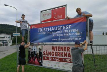 15.08.2019: Werbung für Rüsthausfest
